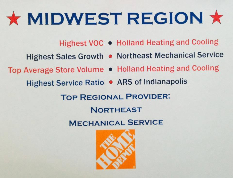 Midwest Region Home Depot HVAC